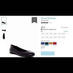 Vince Camuto (BNWT) black flats size 8